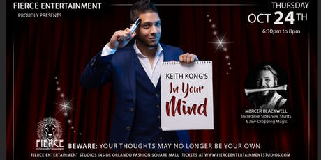 Mentalist Keith Kong's In Your Mind - Magic & Illusionist  Show tickets