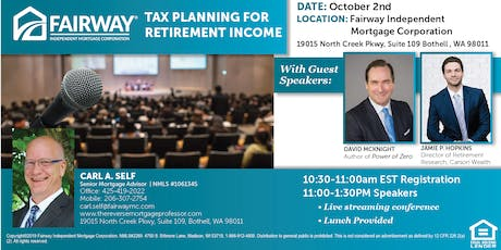 Tax Planning For Retirement Income for CFPs, CPAs and Estate Planners tickets