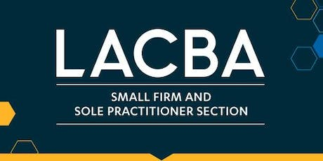LACBA Small Firm Section Mixer in the San Fernando Valley tickets