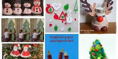 Make Holiday Crafts in French Saturday Dec 7, 10 AM to 11.30 AM