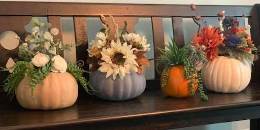 Fall Workshop: Floral Pumpkin Centerpiece