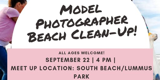 Model/Photographer Beach Clean-up
