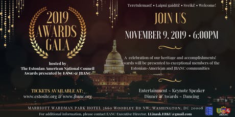 The 2019 Awards Gala hosted by EANC  and the 13th JBANC Baltic Conference tickets