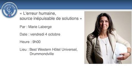 """Conférence """" L'erreur humaine,source inépuisablede solutions """" billets"""