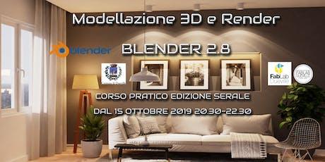 Corso Blender 2.8 modellazione e rendering biglietti