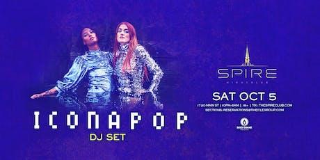Icona Pop / Saturday October 5th / Spire tickets