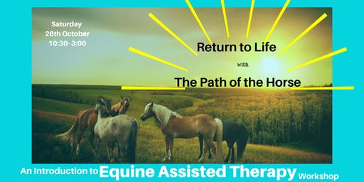 An Equine Assisted Therapy Workshop- Return To Life with The Path of the Horse