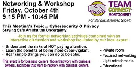 Networking Event & Workshop October 4 2019  9:15 am - 10:45 am tickets