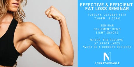 THE RESERVE: EFFECTIVE & EFFICIENT FAT LOSS tickets