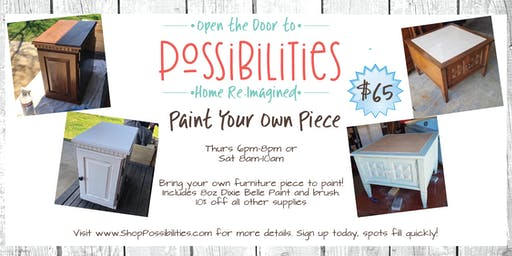 Paint Your Own Piece @ Possibilities