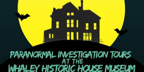DRCP Paranormal Investigation Tours at the Whaley Historic House Museum tickets