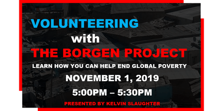 Volunteering with The Borgen Project tickets