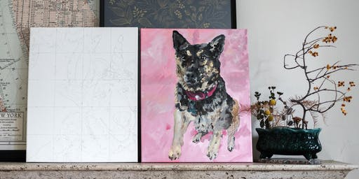 Custom Pet Painting with Painter Nicole