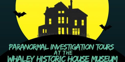 DRCP Paranormal Investigation Tours at the Whaley Historic House Museum