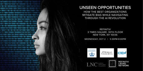 Refinitiv Invite:  Unseen Opportunities:  Mitigating Bias in the Age of AI tickets