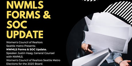 NWMLS Forms Update and SOC tickets
