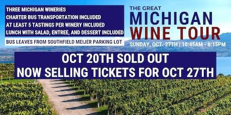The Great Michigan Wine Tour II tickets
