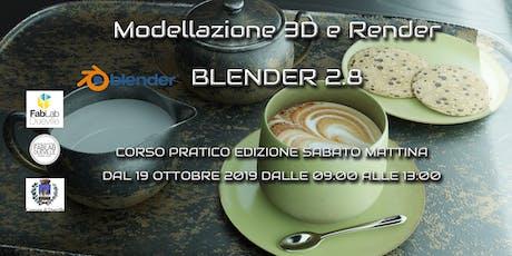 Corso Blender 2.8 modellazione e rendering Edizion biglietti