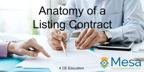 Anatomy of a Listing Contract (Core Elective)  tickets