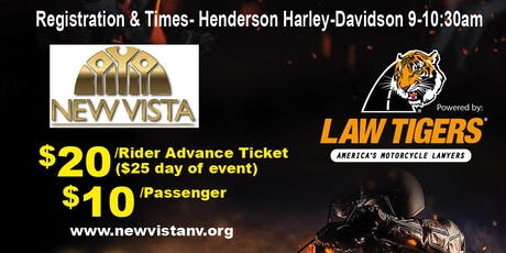 New Vista Charity Motorcycle Poker Run tickets