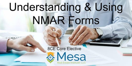 Understanding and Using NMAR Forms (8CE)