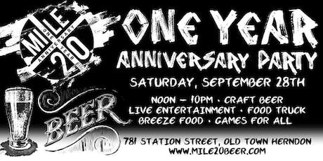 Mile 20 Anniversary Party tickets