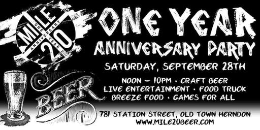 Mile 20 Anniversary Party