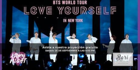 BTS LOVE YOURSELF EN NUEVA YORK - GRATIS entradas