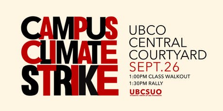 UBCO Campus Climate Strike tickets