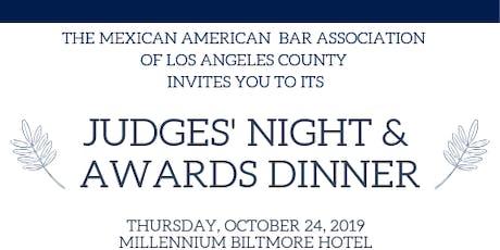 MABA JUDGES' NIGHT & AWARDS DINNER tickets