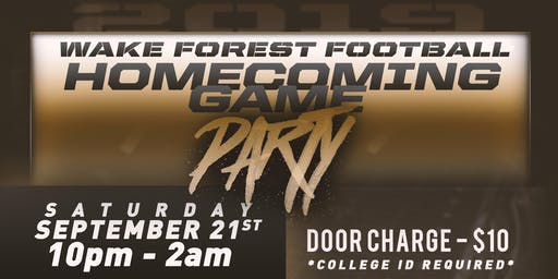 Wake Forest Football Homecoming Party