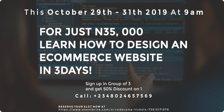 CodeCamp to Learn E-commerce Website within 3days tickets