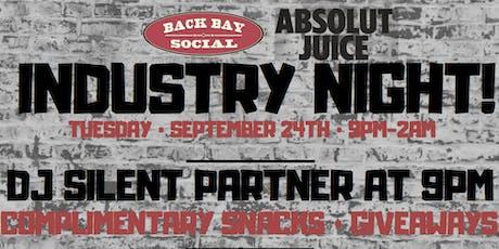 Industry Night at Back Bay Social! tickets