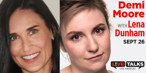 Demi Moore in conversation with Lena Dunham