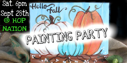 Hello Fall Paint Night @ Hop Nation