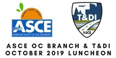 ASCE OC Branch & T&DI October Luncheon - OCTA I-405 Improvement Design-Build Project Update tickets
