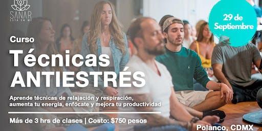 Curso Técnicas Anti Estrés, Meditación y Mindfulness