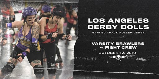DERBY DOLLS: Varsity Brawlers vs Fight Crew - Banked Track Roller Derby