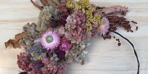 Class: Dried Flower Wreath Class on an Urban Flower Farm