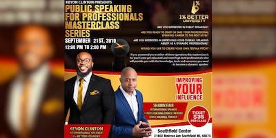 Public Speaking for Professionals Masterclass Series