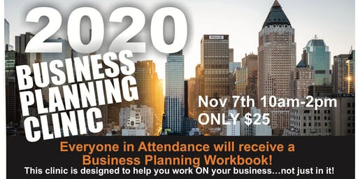 2020 Business Planning Clinic with Shon Kokoszka!