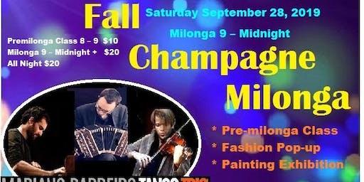 Early Fall Champagne Tango Milonga with Live Music