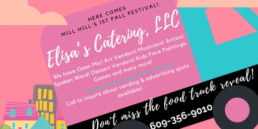 FALL FESTIVAL IN MILL HILL PARK AND ELISA'S CATERING LLC PINK FOOD TRUCK REVEALING