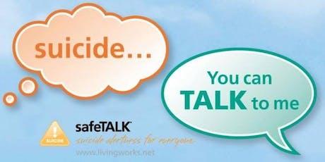 safeTalk: suicide alert training tickets