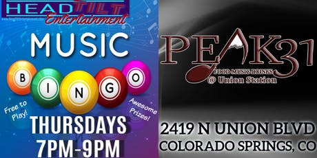 Music Bingo at Peak31 at Union Station - Colorado Springs, CO tickets