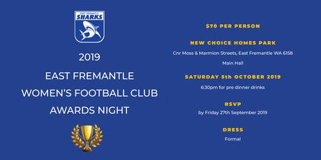 East Fremantle Women's Football Club Awards Night tickets