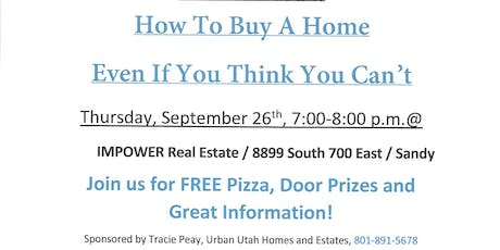 How To Buy A Home Even If You Think You Can't tickets