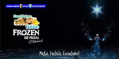 50% DE DESCONTO! Comidinhas + Teatro: Frozen de Natal, O Musical no Teatro BTC