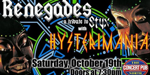 Styx & Def Leppard Tributes Renegades & Hysterimania