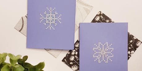 Handmade Holiday Greeting Cards - Intro to Cross Stitch Workshop @ DVLB tickets
